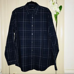 🦋🦋 2 for $15 Alfani Men dress shirt color Navy